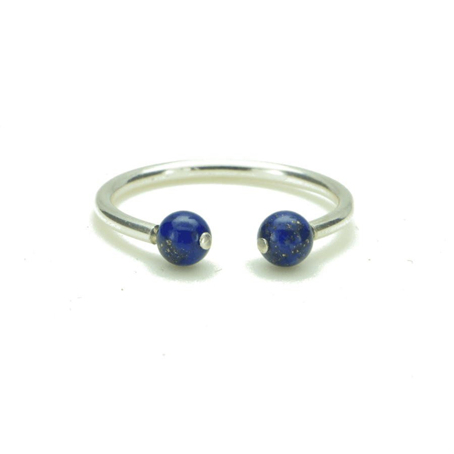 Aglaia bijoux argent pierre bague lapis lazuli elegance eternelle 1
