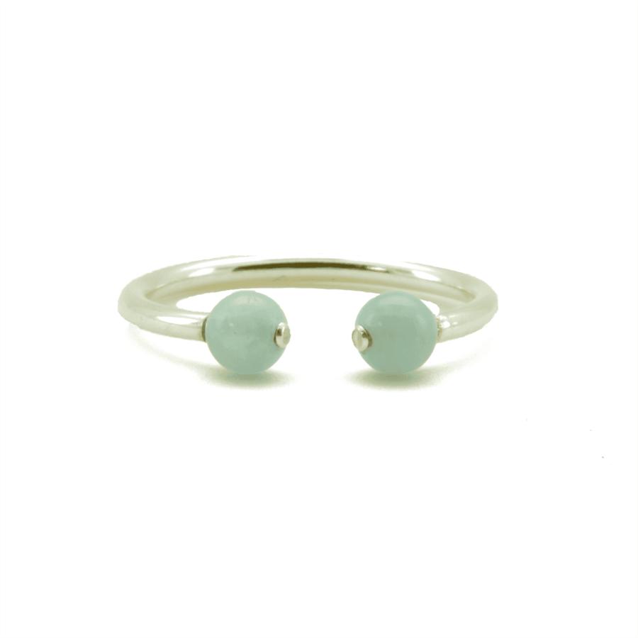 Aglaia bijoux argent pierre bague aigue marine elegance eternelle 1