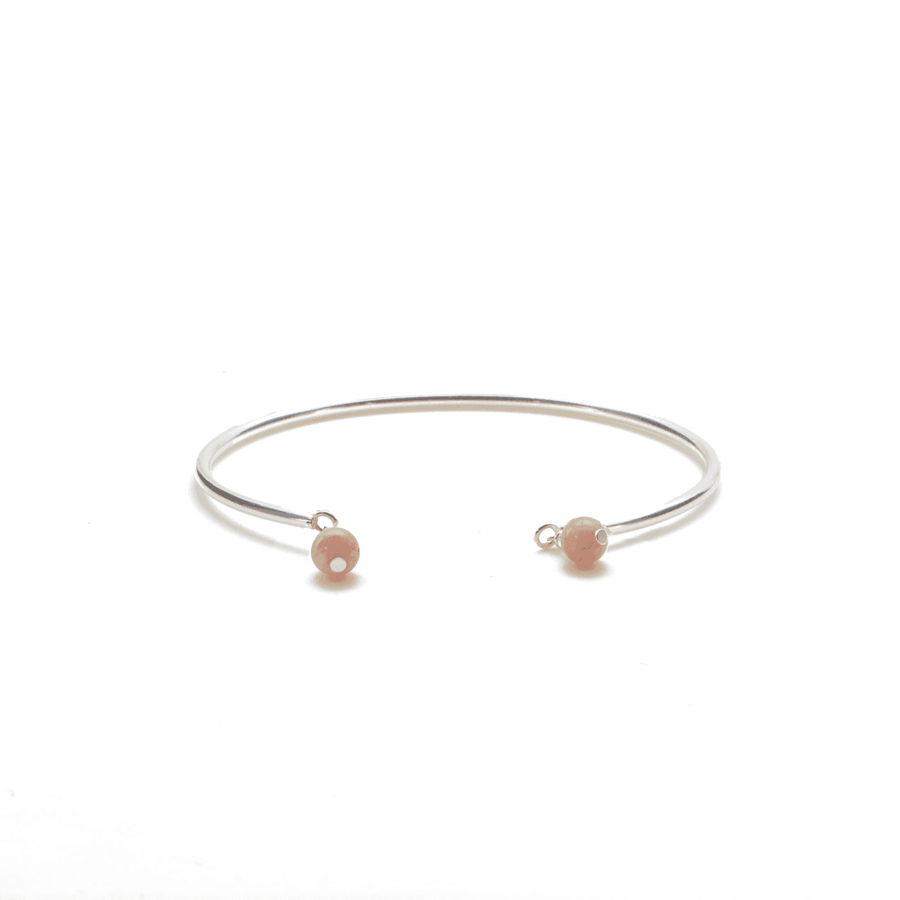 Aglaia bijoux argent pierre bracelet jonc rhodocrosite elegance eternelle 1