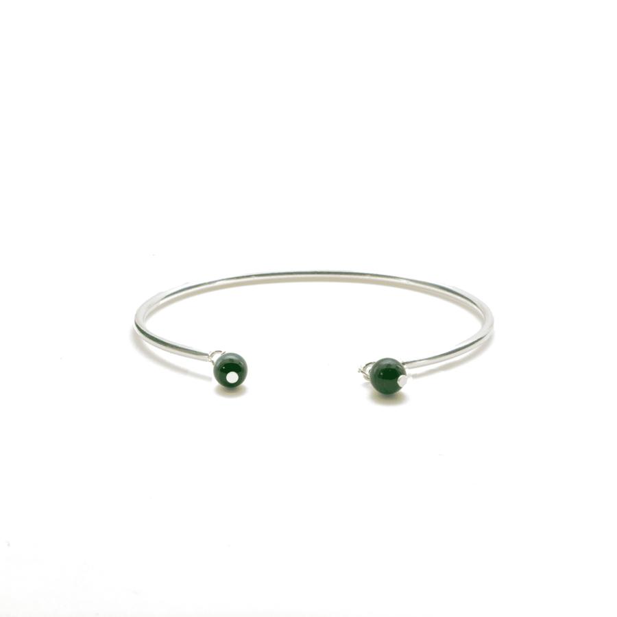 Aglaia bijoux argent pierre bracelet jonc malachite elegance eternelle 1
