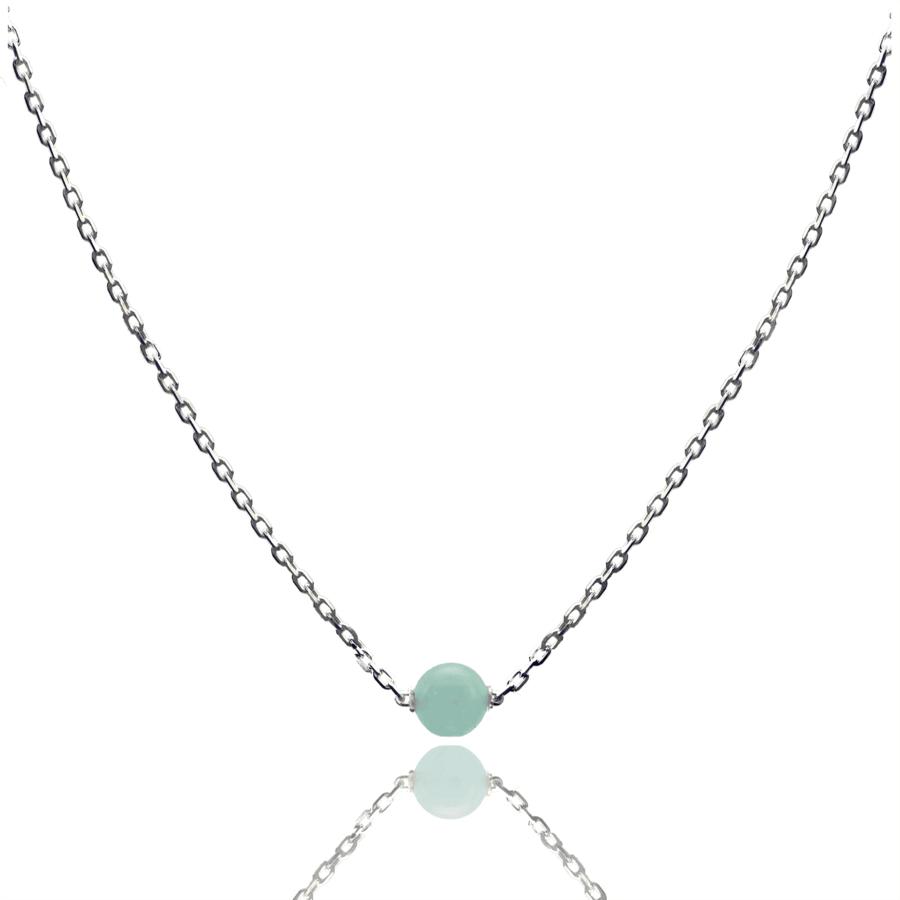 Aglaia bijoux argent pierre collier aigue marine elegance eternelle 1