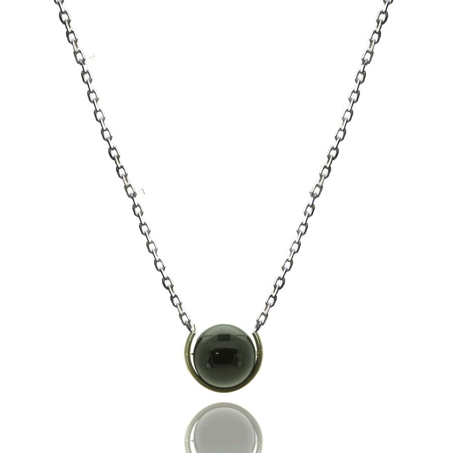 Aglaia bijoux argent pierre sautoir onyx elegance eternelle 1