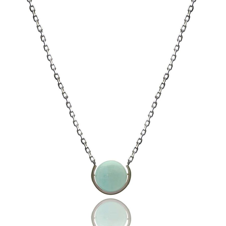 Aglaia bijoux argent pierre sautoir aigue marine elegance eternelle 1
