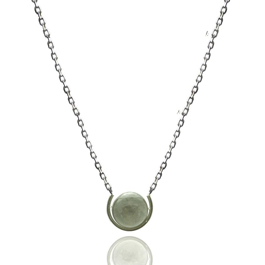Aglaia bijoux argent pierre sautoir labradorite elegance eternelle 1