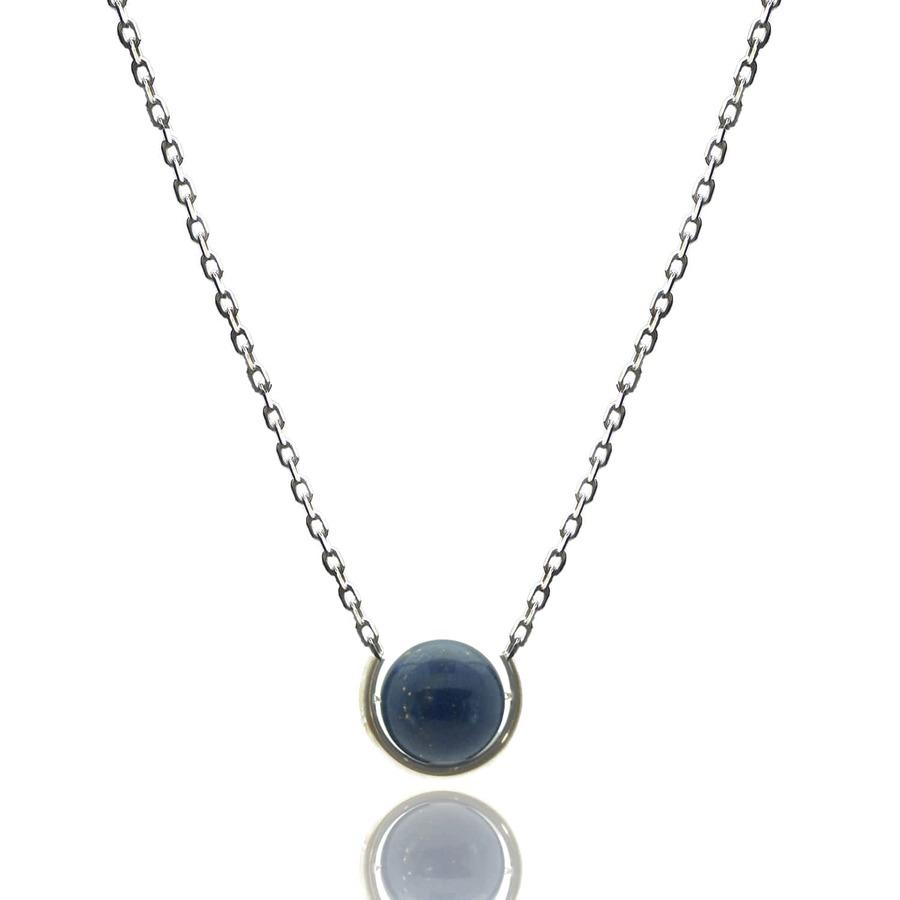 Aglaia bijoux argent pierre sautoir lapis  lazuli elegance eternelle 1