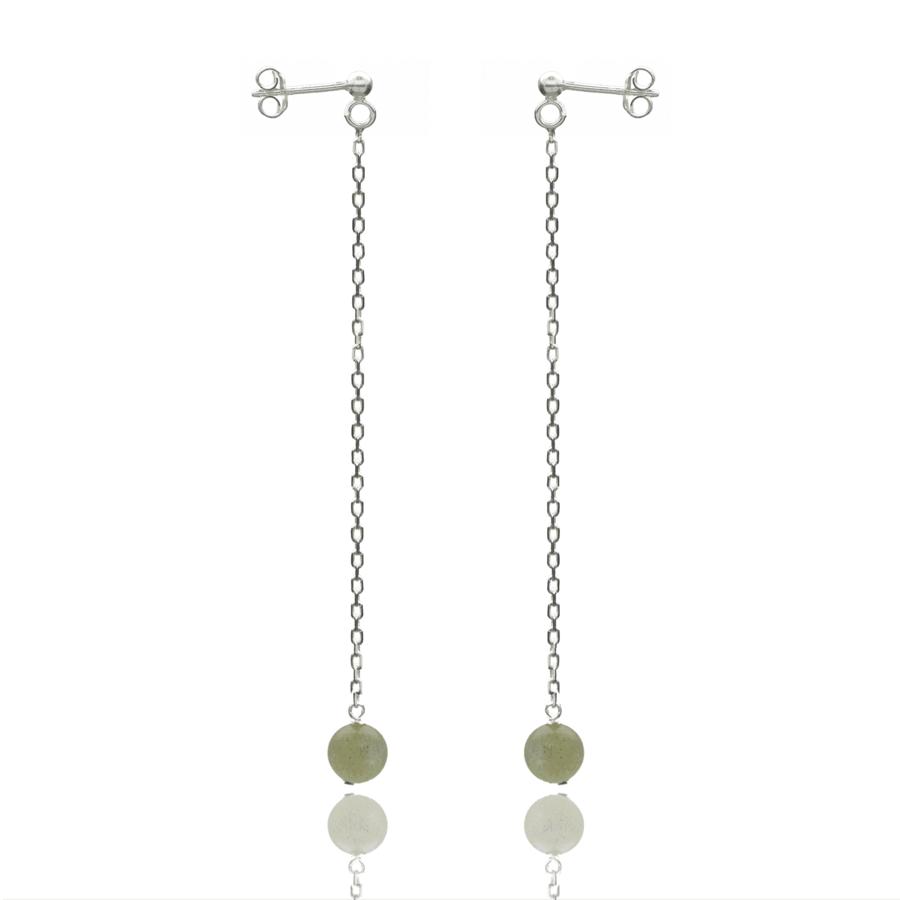 Aglaia bijoux argent pierre boucles oreilles pendant labradorite eternelle 1