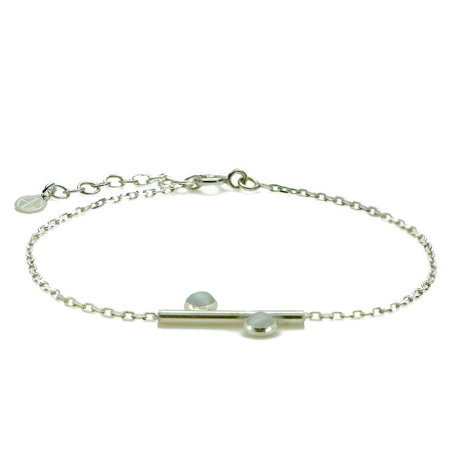 Aglaia bijoux argent pierre bracelet2p quartz equilibria 1
