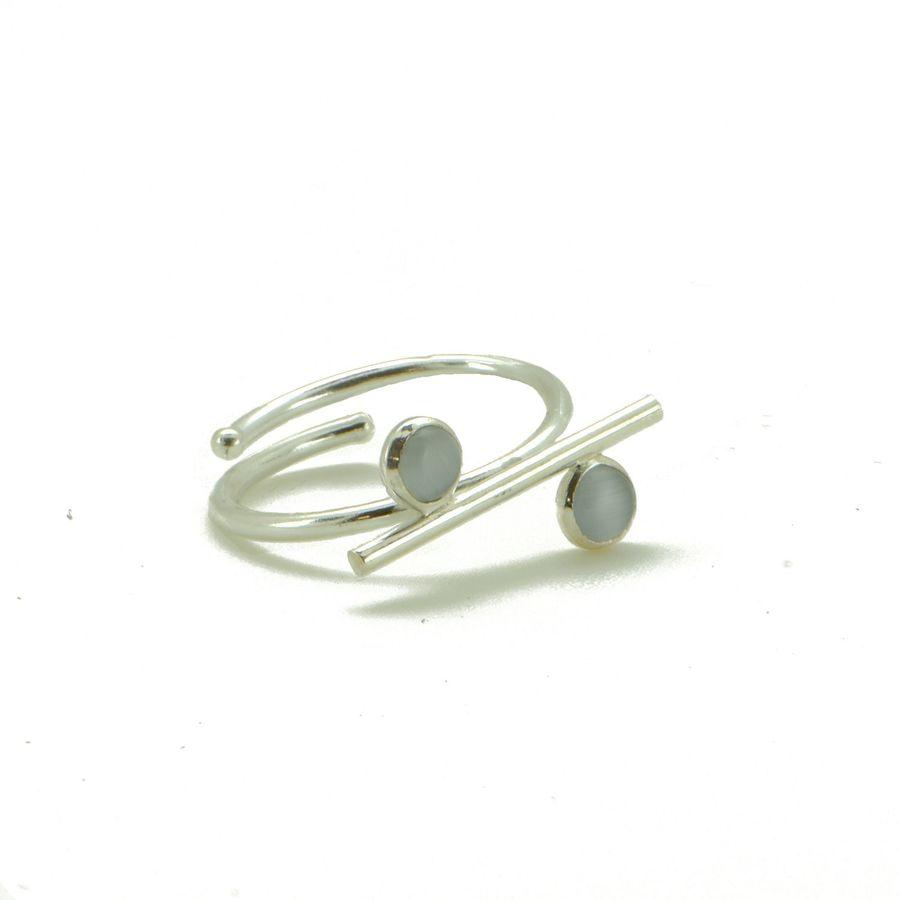 Aglaia bijoux argent pierre bague2p quartz equilibria 1