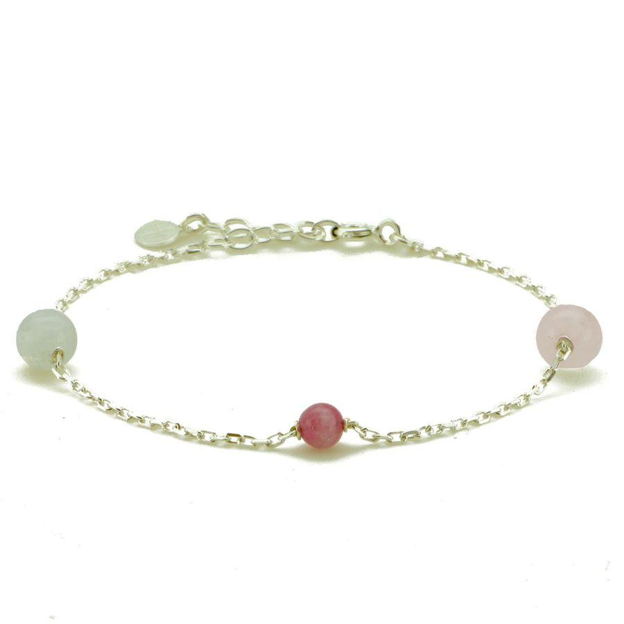 Bracelet argent pierre tourmaline