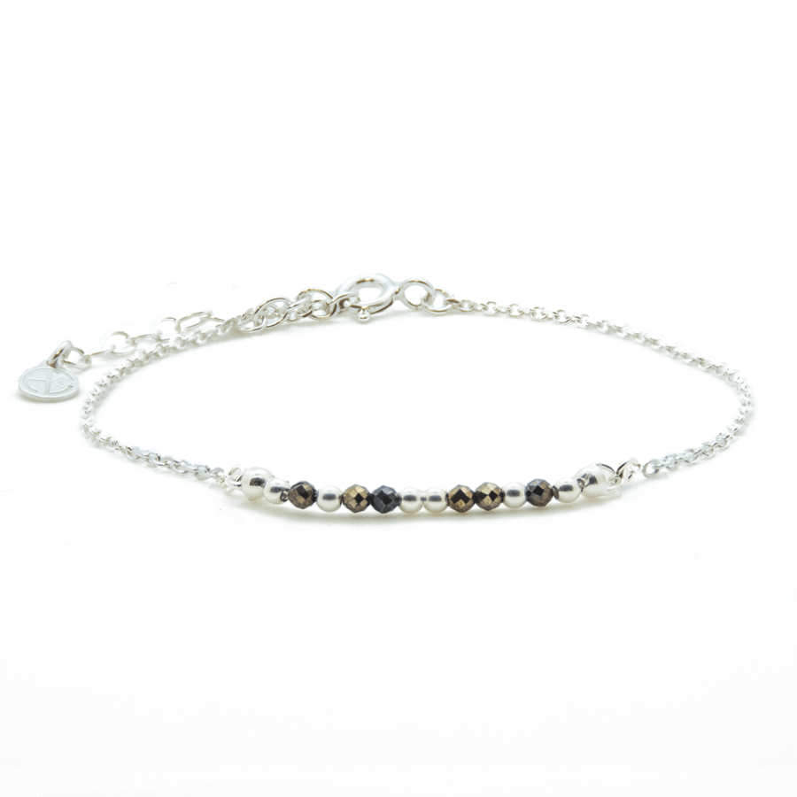 Bracelet argent pierre pyrite gypsy wild aglaiaco