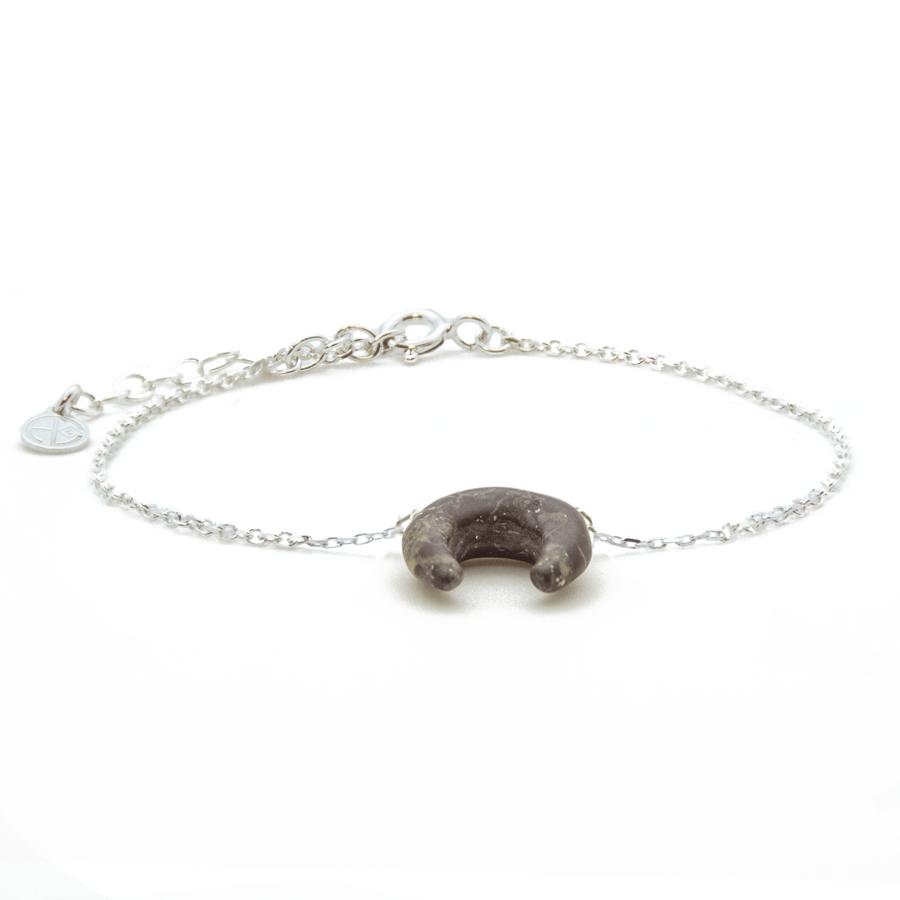 Bracelet argent pierre corne jaspe gypsy wild aglaiaco