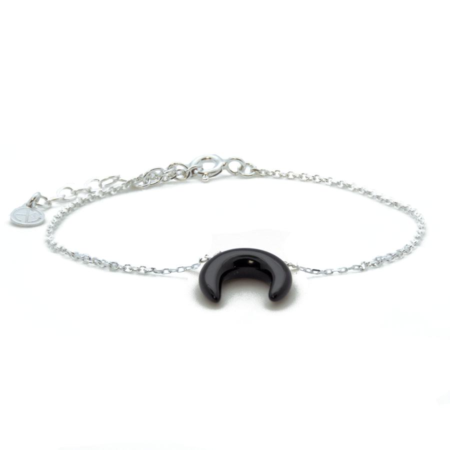 Bracelet argent pierre corne onyx wild aglaiaco