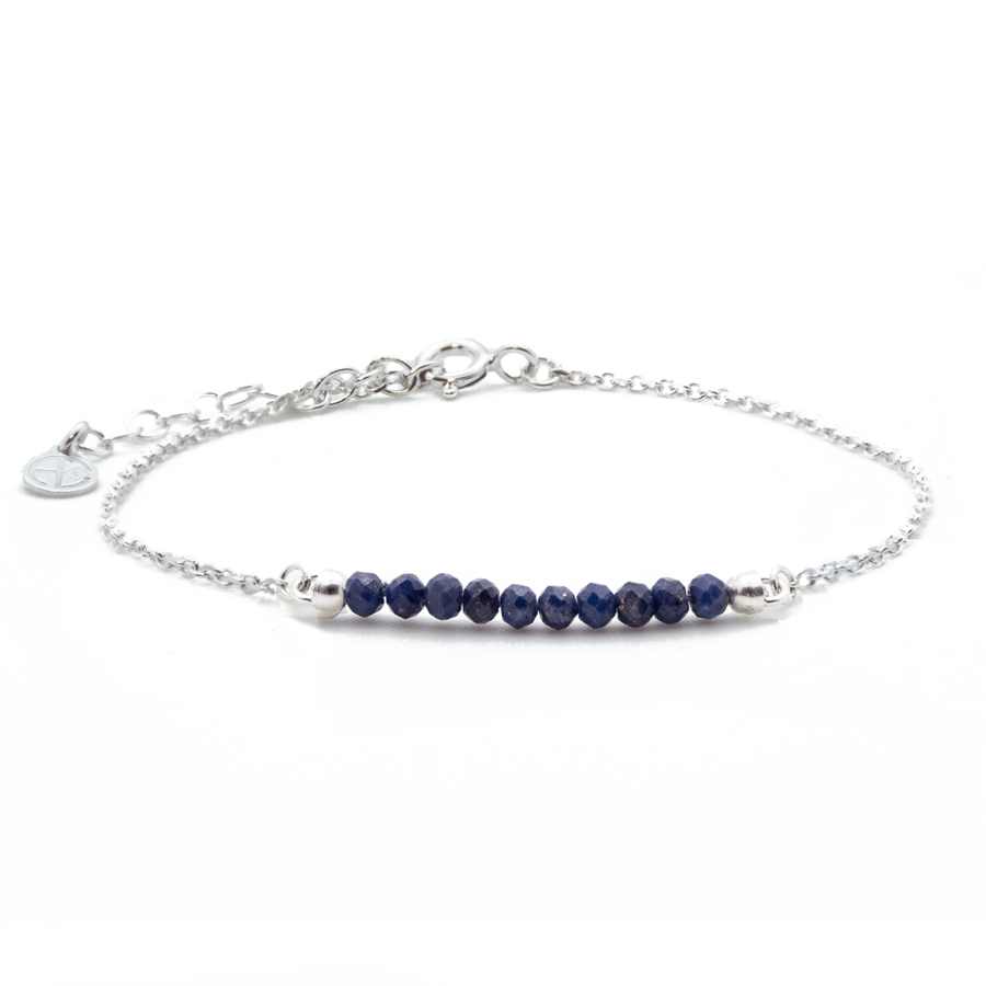 Bracelet lapis lazuli argent chaine color atelier