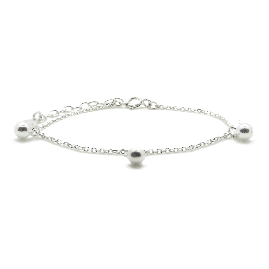 Bracelet argent massif bijoux perle aglaiaco