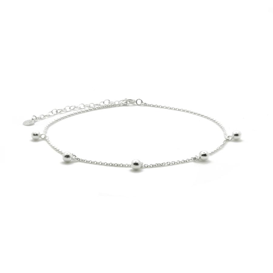 Chaine cheville argent massif bijoux perle aglaiaco