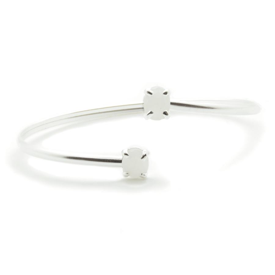 Bracelet jonc argent bijoux pierre silverite aglaiaco