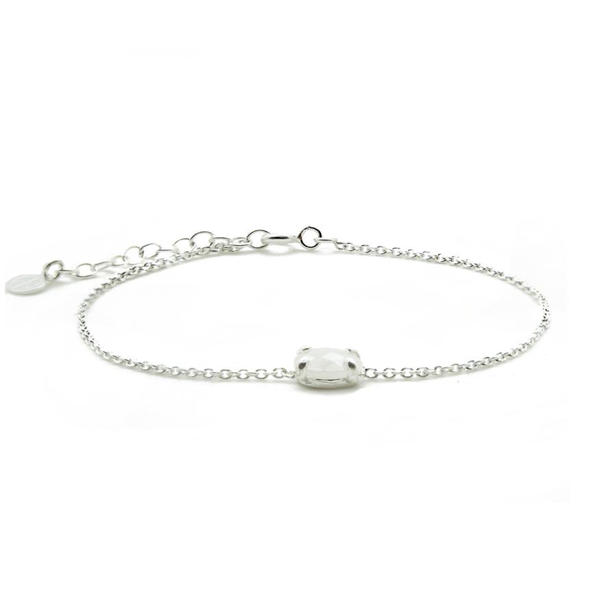 Bracelet argent bijoux pierre siverite aglaiaco