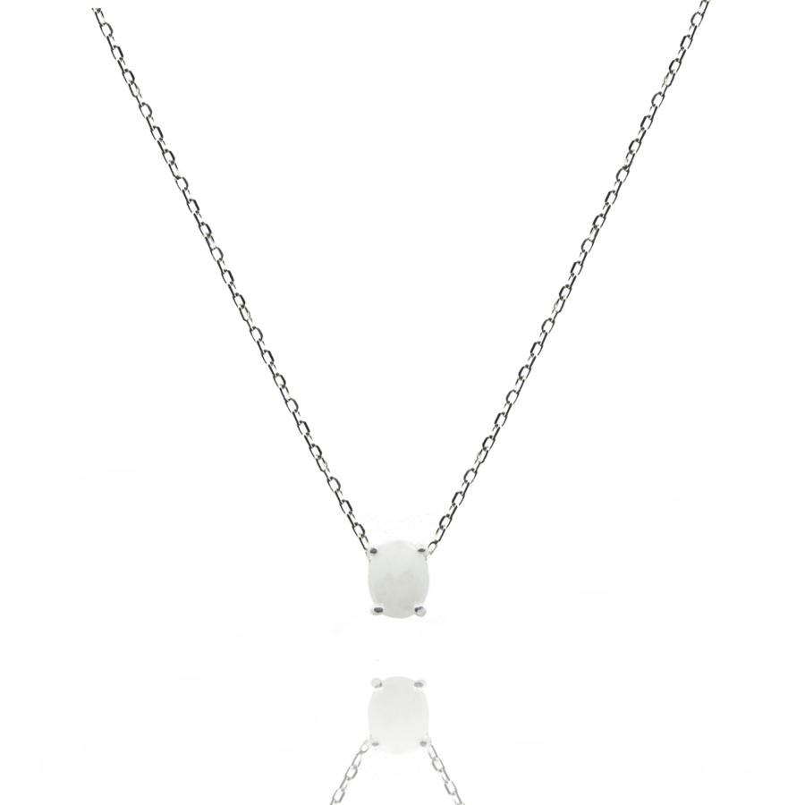Collier argent bijoux pierre silverite paris aglaiaco