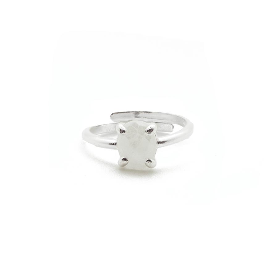 Bague argent bijoux pierre blanc nacr%c3%a9 silverite aglaiaco