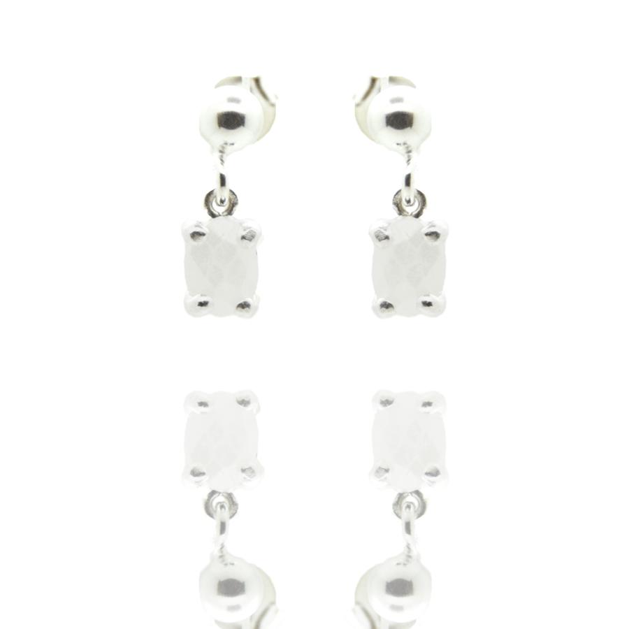 Boucles oreilles pendantes puces silverite concorde aglaiaco