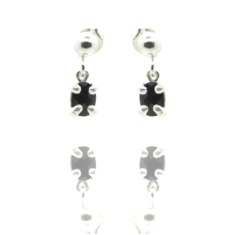 Boucles oreilles pendantes puces onyx concorde aglaiaco