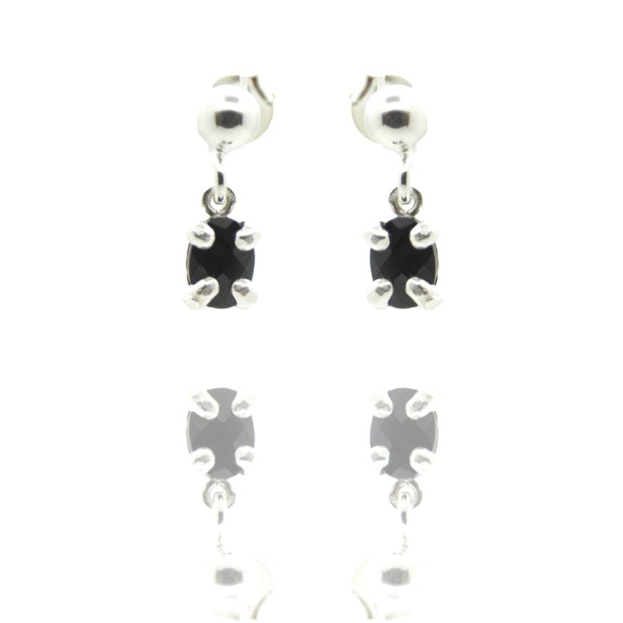 Boucles oreilles pendantes puces onyx concorde aglaiaco