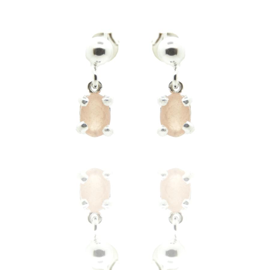 Boucles oreilles pendantes puces pierre lune concorde aglaiaco