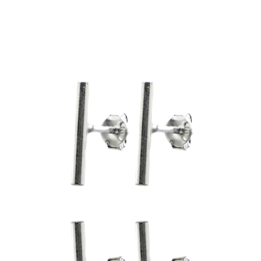 Boucles oreilles puce argent tube brooklyn aglaiaco