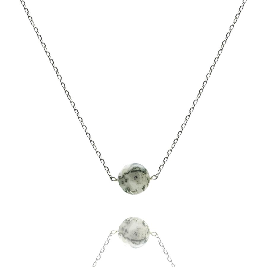 Collier quartz inclusions argent atelier
