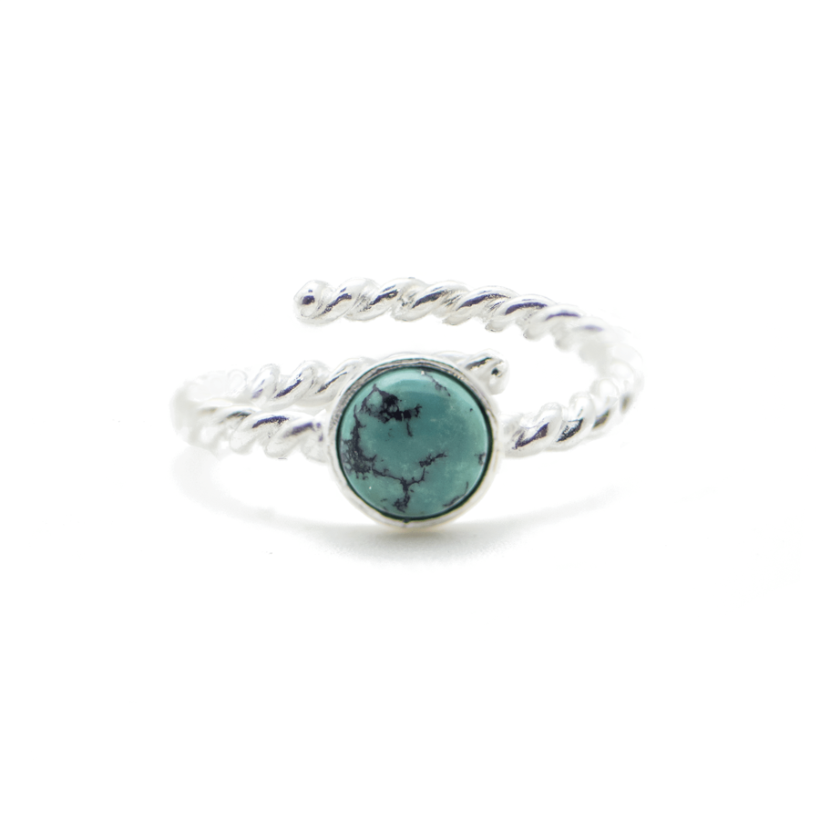Bague argent pierre turquoise gipsy wild