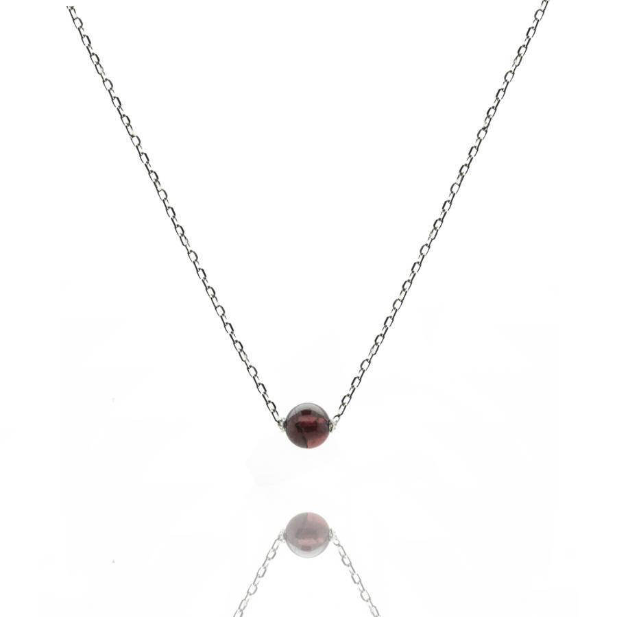 Aglaia bijoux argent pierre collier grenat elegance eternelle