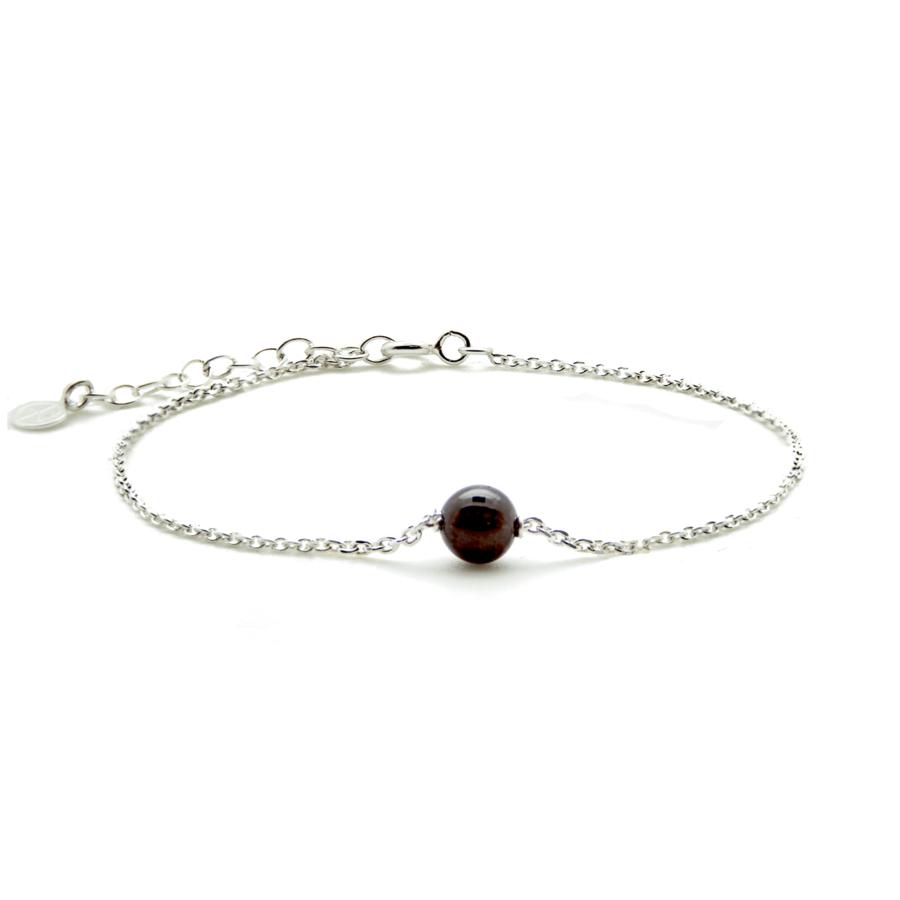 Aglaia bracelet argent pierre grenat elegance eternelle