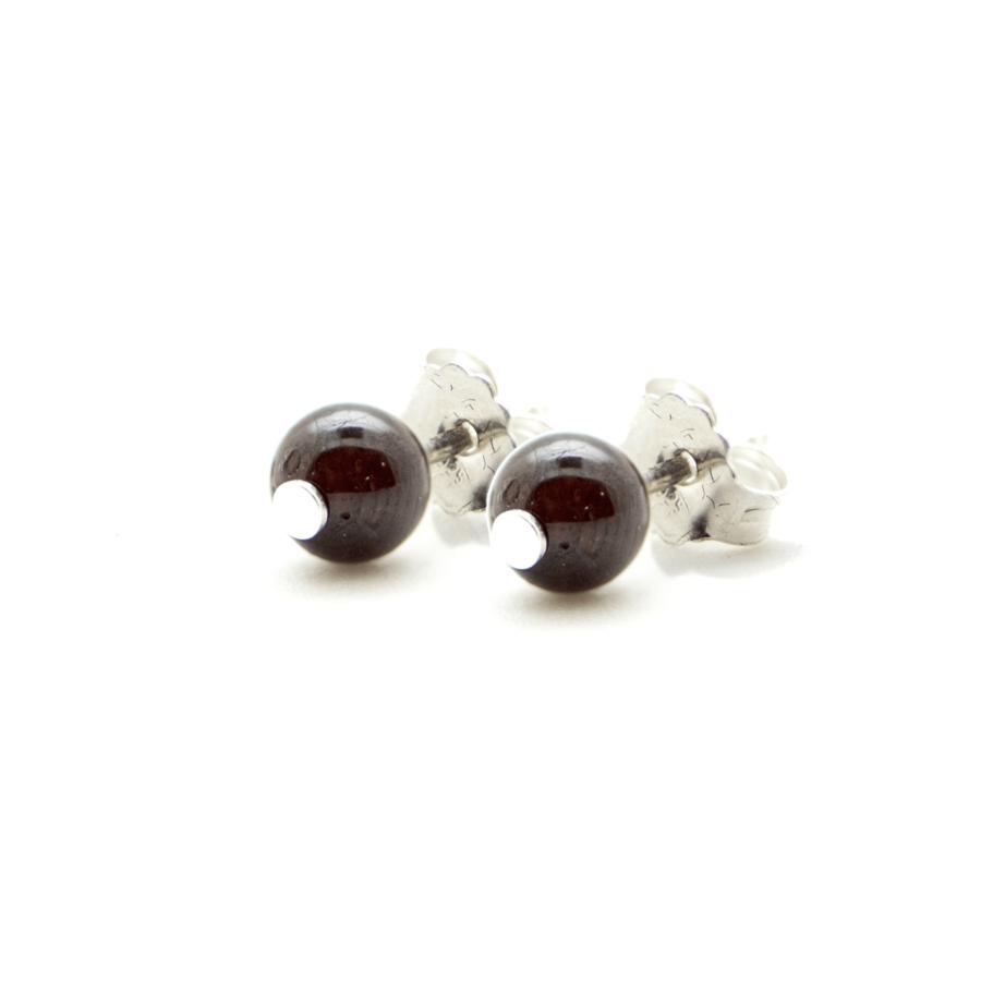 Boucles oreilles argent grenat pierre elegance eternelle