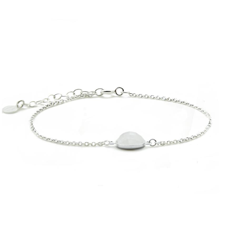 Bracelet argent mademoiselle pierre lune aglaiaco