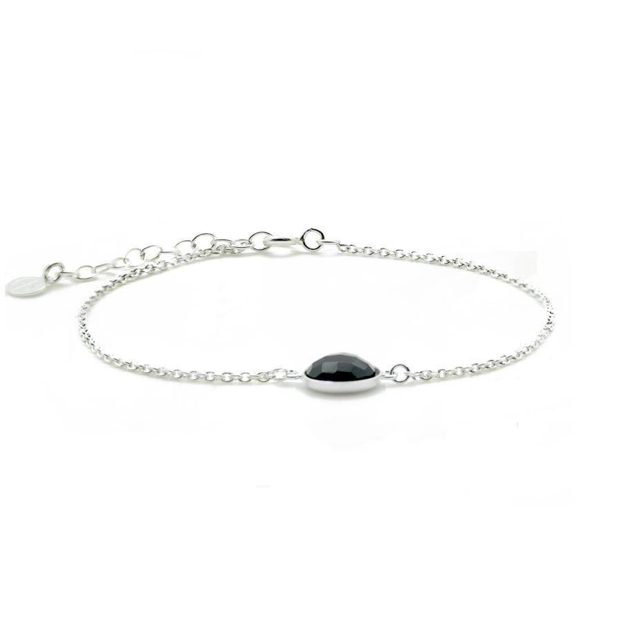 Bracelet argent mademoiselle onyx aglaiaco