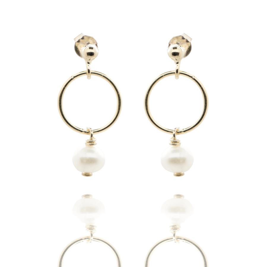 Boucles oreilles plaqu%c3%a9 or pendantes perle culture aglaiaco