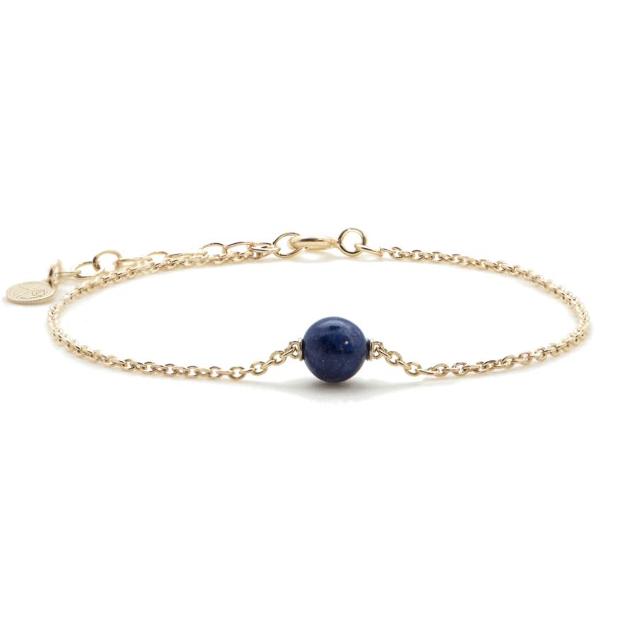 Bracelet plaqu%c3%a9 or lapis lazuli aglaiaco