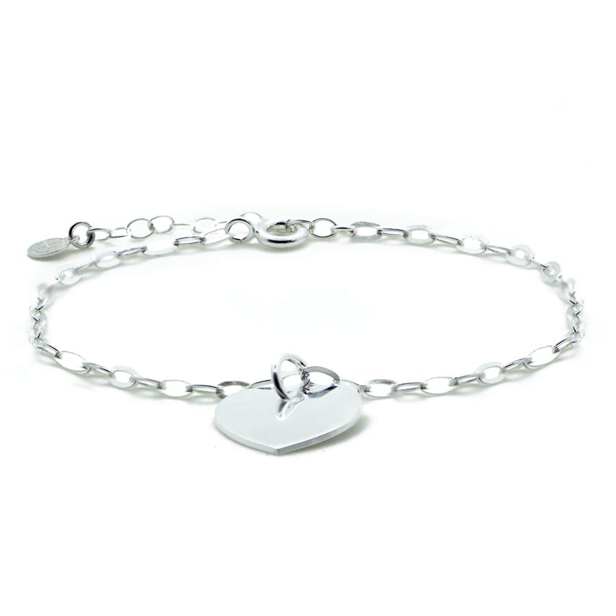 Bracelet coeur argent bijoux aglaiaco