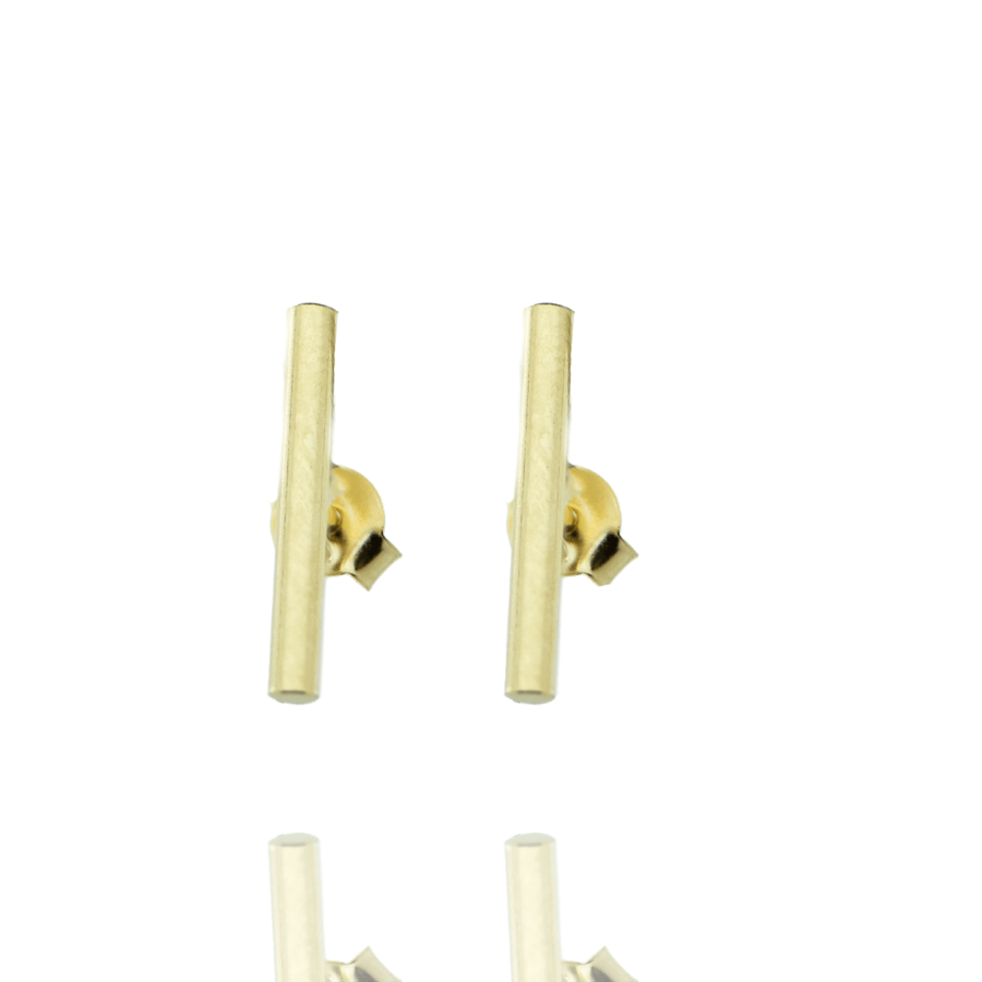 Boucles oreilles puce plaque or tube brooklyn aglaiaco