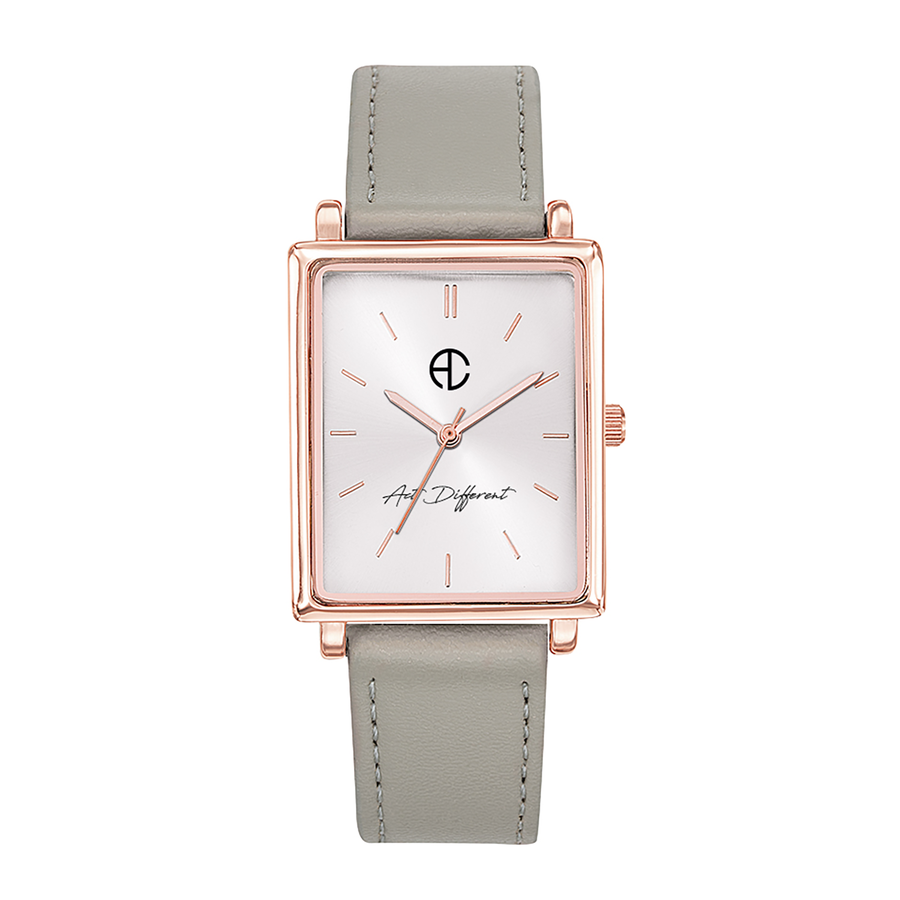 Aglaiaco montre carre rose golden change argent act different