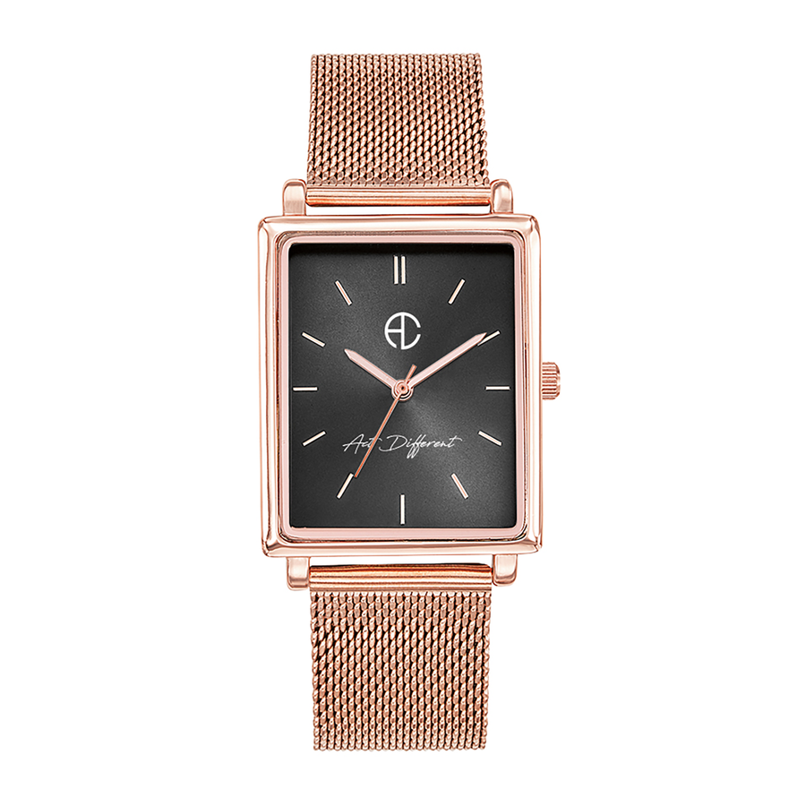 Aglaiaco montre carre milanais rose golden change act different