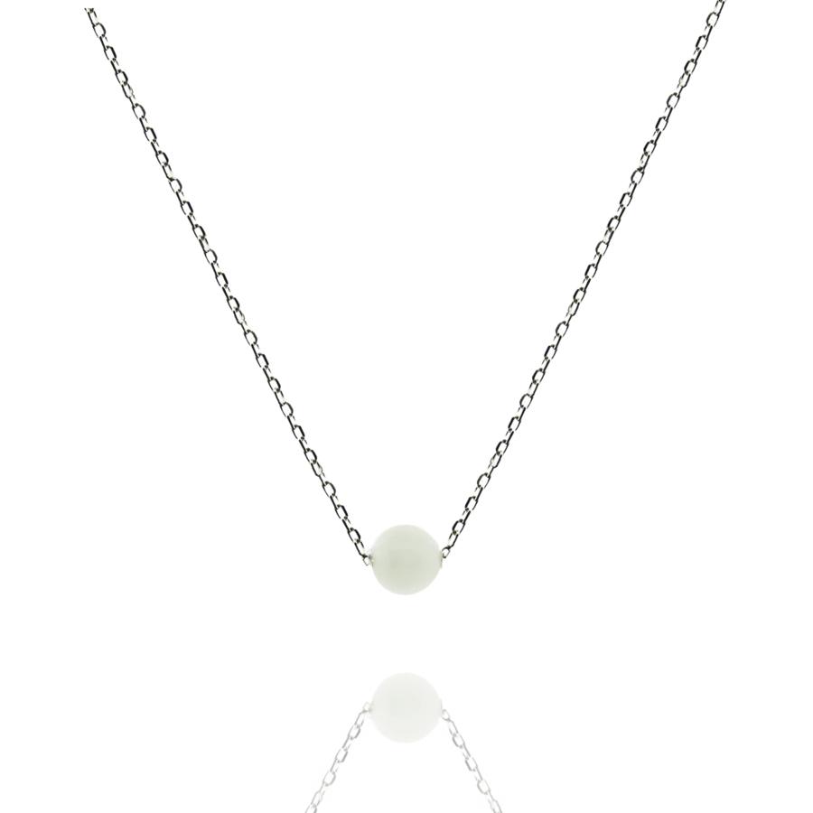 Collier bijoux argent pierre jade aglaiaco