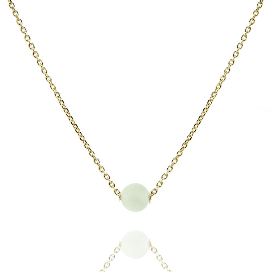Collier plaqu%c3%a9 or jade bijoux aglaiaco
