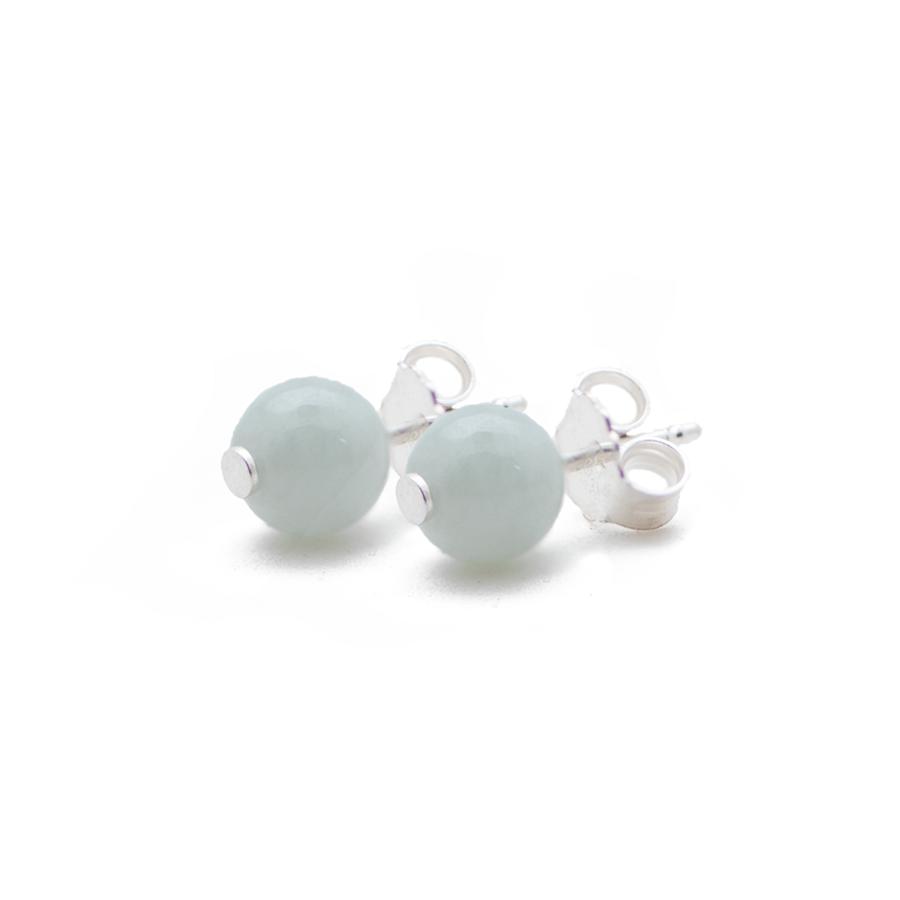 Boucles oreilles argent jade pierre elegance eternelle