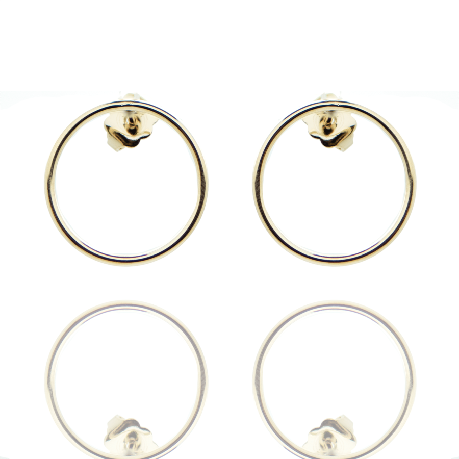 Boucles oreilles plaque or fine made in france aglaiaco