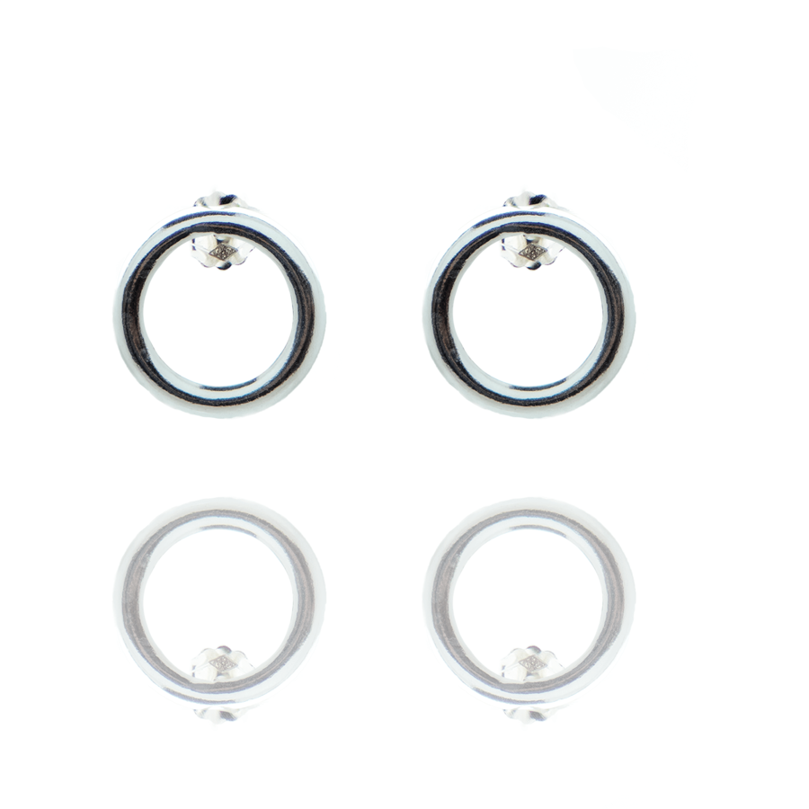 Boucles oreilles puce argent fine made in france aglaiaco