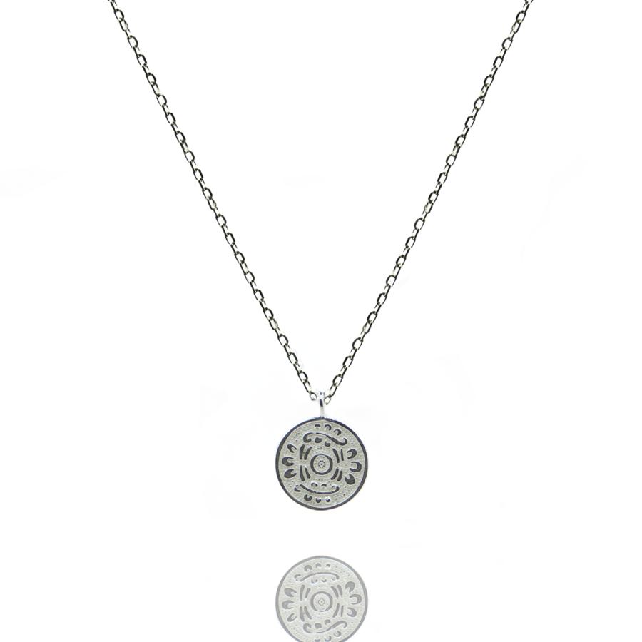 Collier argent m%c3%a9daille symbole nature bijoux mode aglaiaco