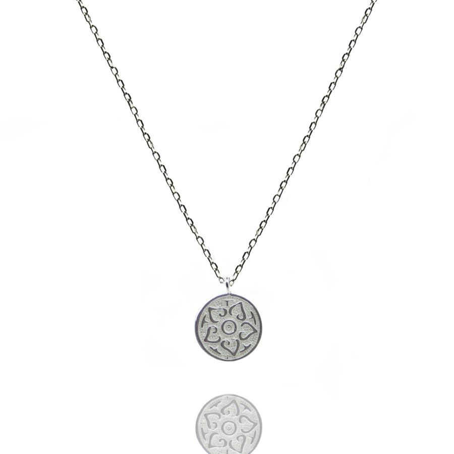 Collier argent m%c3%a9daille symbole fleur bijoux mode aglaiaco