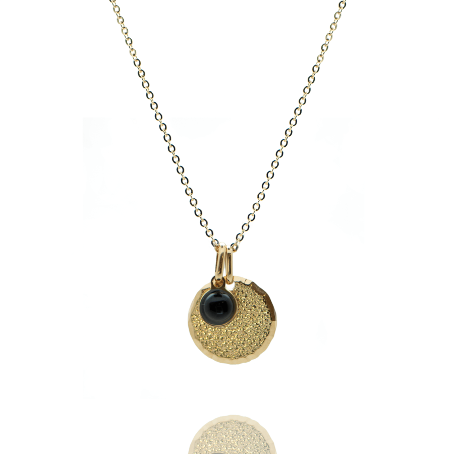 Collier plaque or medaille diamant%c3%a9 pierre onyx chaine forcat atelier aglaiaco