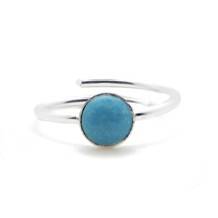 Bague argent fine turquoise made in france aglaiaco